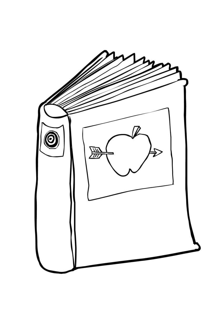 Dibujo para colorear Libro (2) - Img 14843