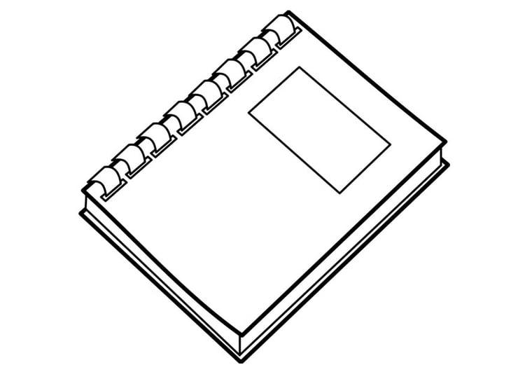 Dibujo para colorear libro - Img 18737
