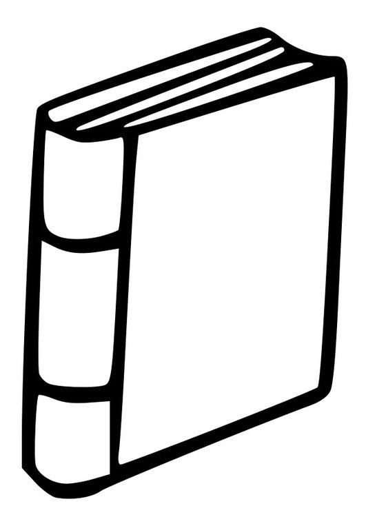Dibujo para colorear libro - Img 27001
