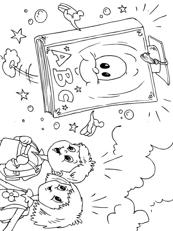 Dibujo para colorear libro escolar - Img 22707