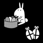 Dibujo para colorear Liebre de Pascua