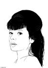 Dibujo para colorear Lily Allen