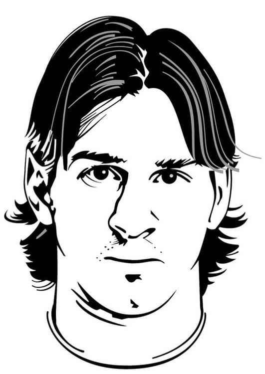 Dibujo para colorear Lionel Messi   Img 24751