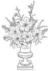 Dibujo para colorear Lirios en jarrón