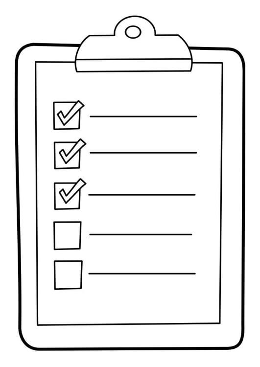 Dibujo para colorear lista en tablero - Img 22850
