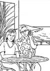 Dibujo para colorear LLamar por teléfono - gsm