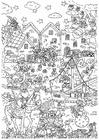 Dibujo para colorear llegada Sinterklaas