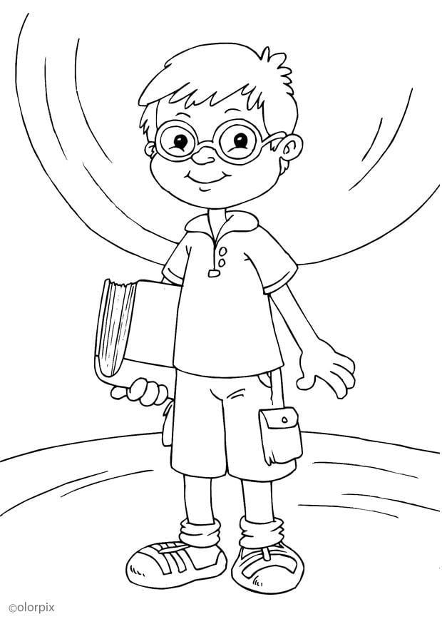 Dibujo Para Colorear Llevar Gafas Img 25904 Images