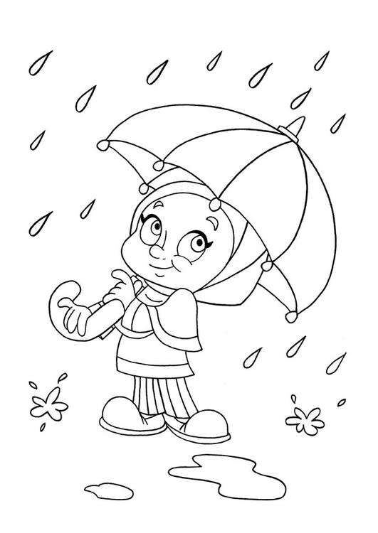 Dibujo para colorear lluvia - Img 22039