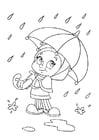 Dibujo para colorear lluvia