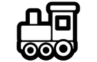 Dibujo para colorear locomotora
