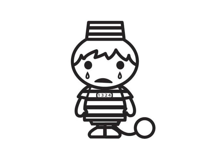 Dibujo para colorear los niños no pueden ir a la cárcel - Img 23397
