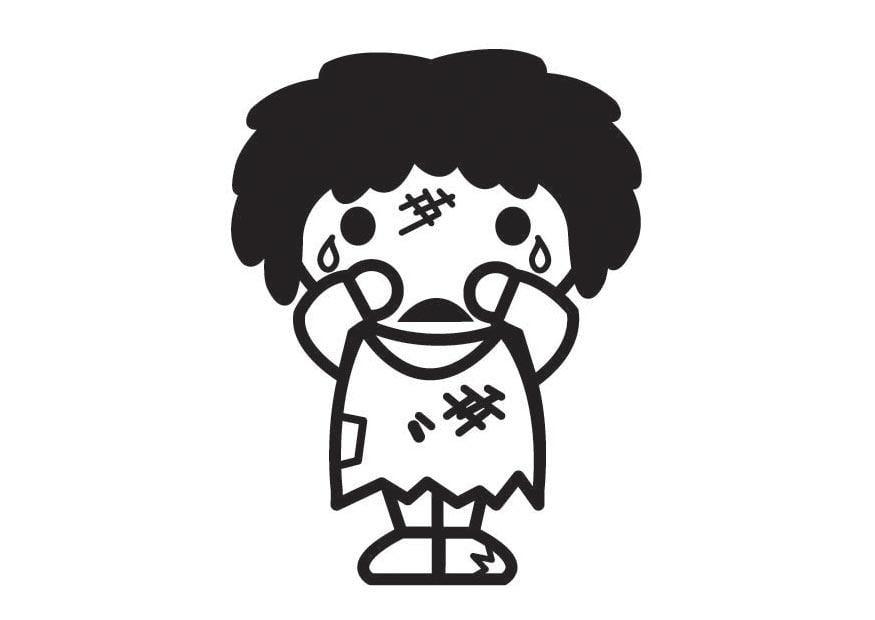 Dibujo Para Colorear Los Niños No Pueden Ser Maltratados