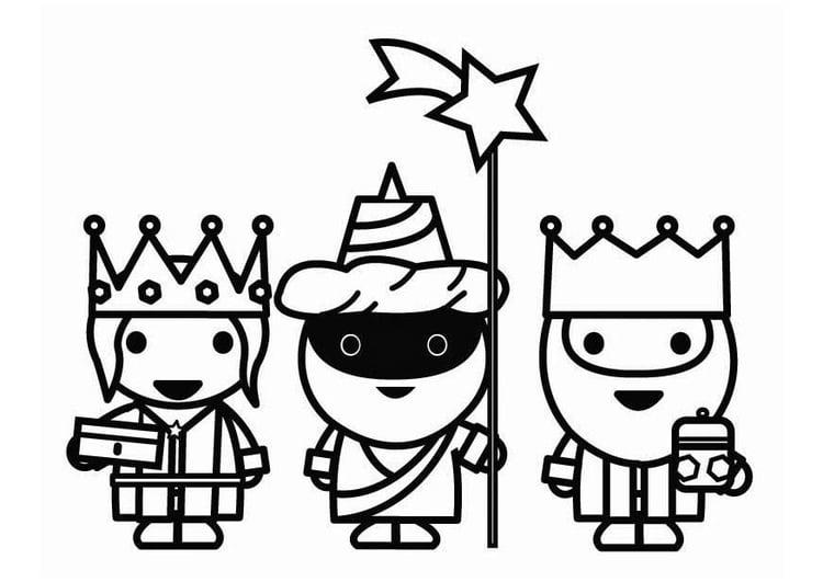Dibujo Para Colorear Los Reyes Magos De Camino Img 26415