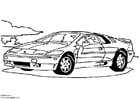 Dibujo para colorear Lotus Esprit