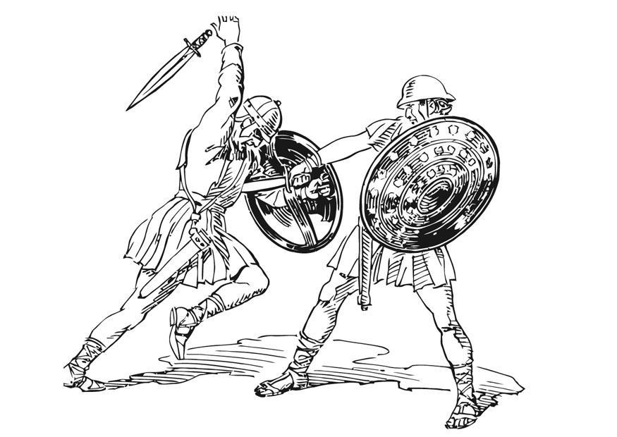 Dibujo Para Colorear Lucha Img 13227