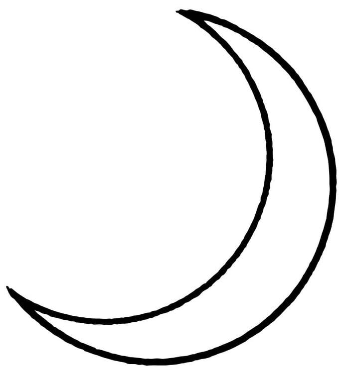 Dibujo para colorear Luna - Img 15709