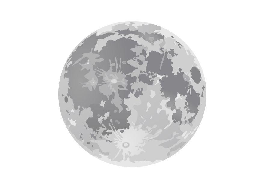Dibujos De La Luna Para Colorear E Imprimir: Dibujo Para Colorear Luna Llena