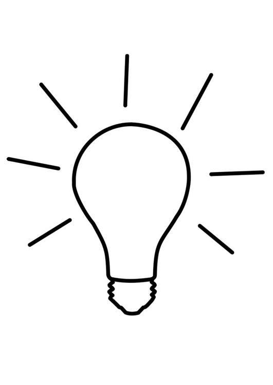 Dibujo para colorear luz encendida img 22728 for Mesa de luz para dibujo