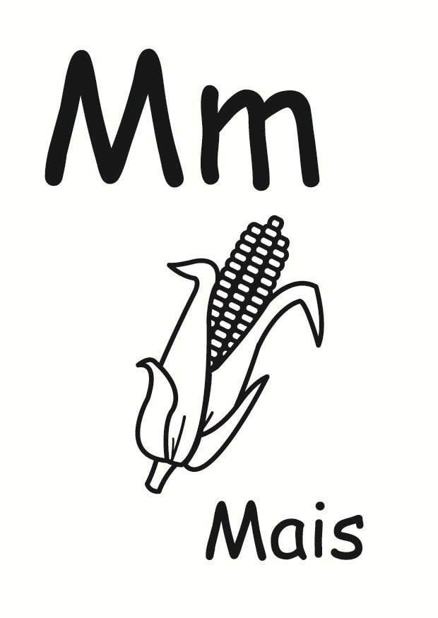 Dibujo para colorear m - Dibujos Para Imprimir Gratis ...