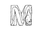 Dibujo para colorear m-moray