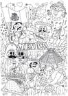 Dibujo para colorear México
