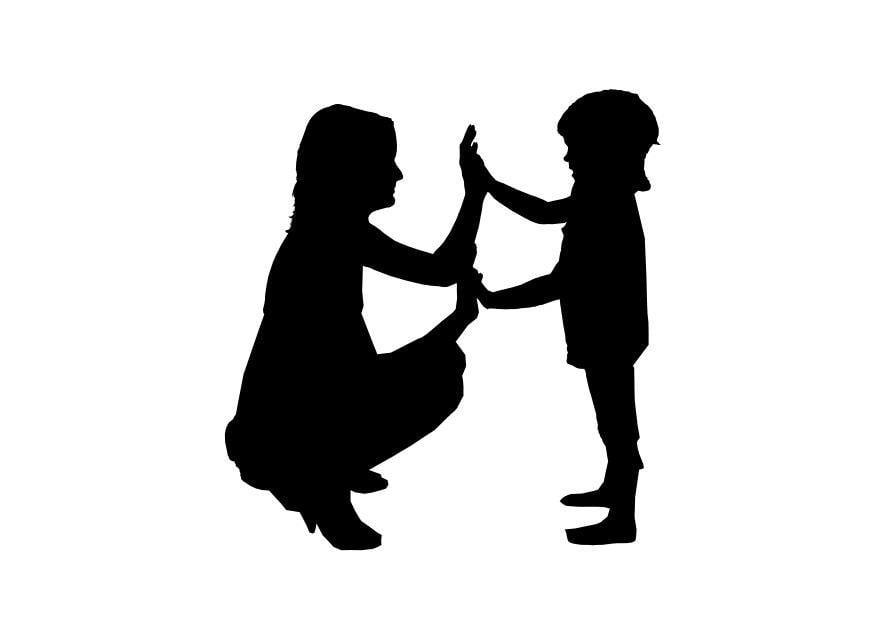 Dibujo para colorear madre con hijo  Img 26155