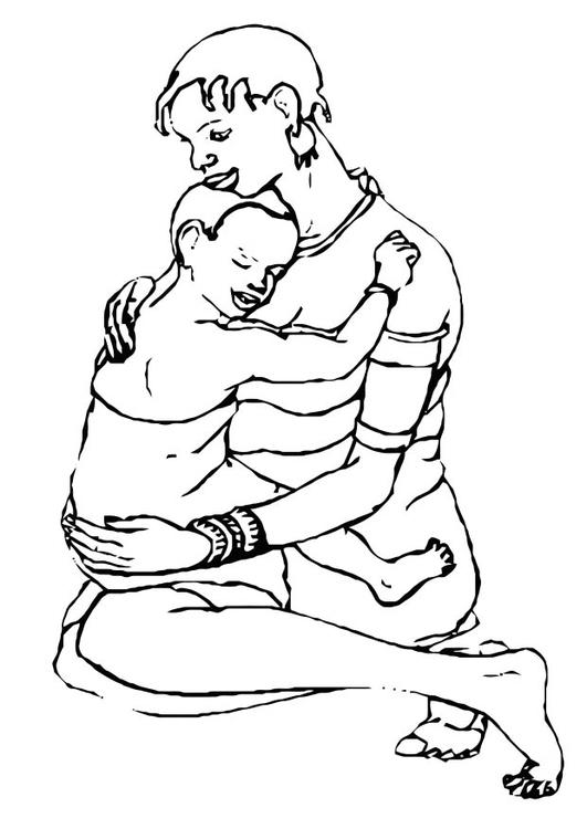 Dibujo Para Colorear Madre E Hijo Img 10991 Images