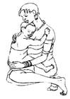 Dibujo para colorear Madre e hijo
