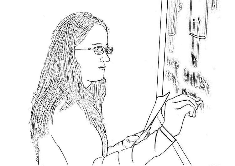 Dibujo Para Colorear Maestra Img 7591