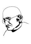 Dibujo para colorear Mahatma Gandhi