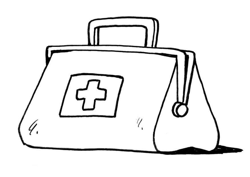 Dibujo para colorear Maleta de médico - Img 12114