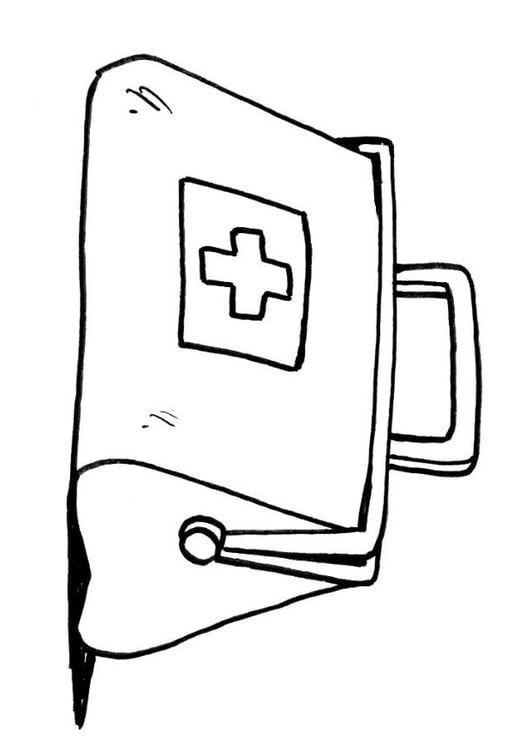 Dibujo para colorear Maleta de mdico  Img 12114