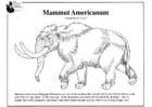 Dibujo para colorear Mamut americano