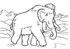 Dibujo para colorear Mamut