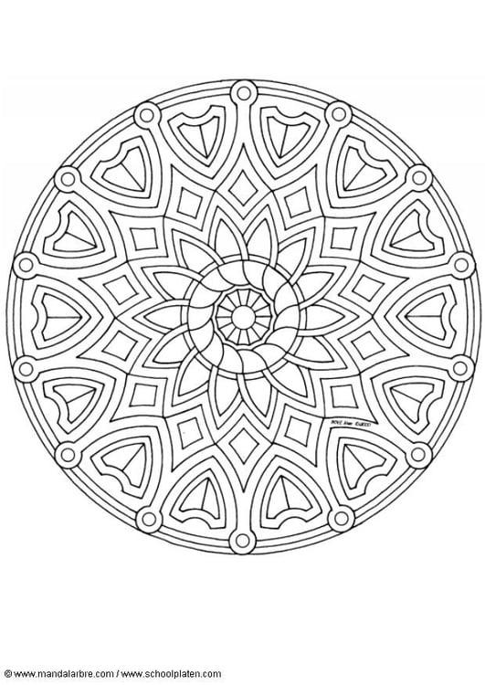 Dibujo Para Colorear Mandala A1 Img 4500