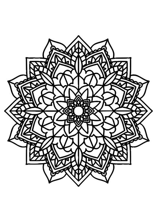 Dibujo Para Colorear Mandala Img 30385 Images