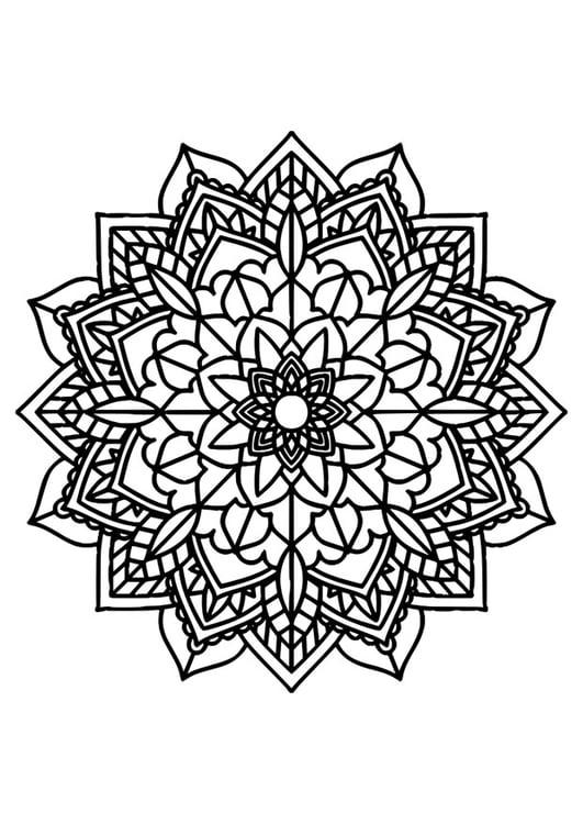 Dibujo para colorear mandala - Img 30385