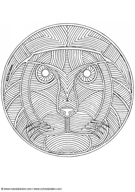 Dibujo Para Colorear Mandala León Dibujos Para Imprimir