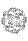 Dibujo para colorear Mandala