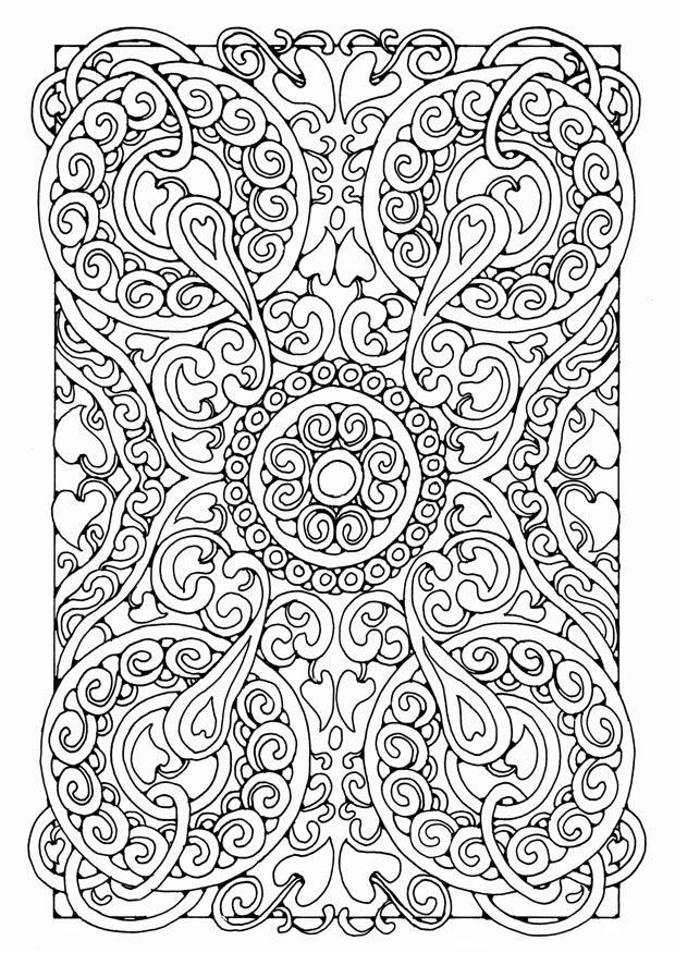 Dibujo para colorear mandala5a