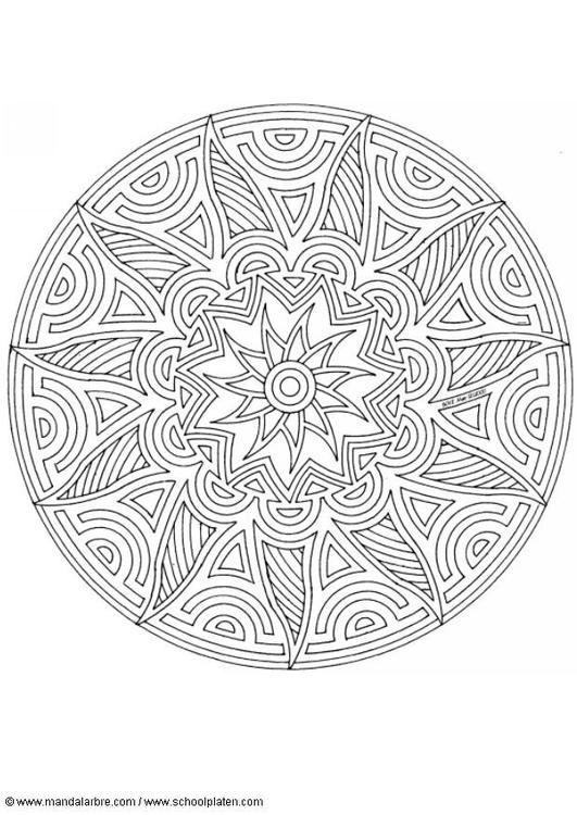 Dibujo para colorear MandalaF3 - Img 4533