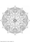 Dibujo para colorear MandalaX3