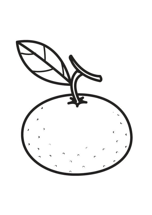 Dibujo para colorear mandarina  Img 23177