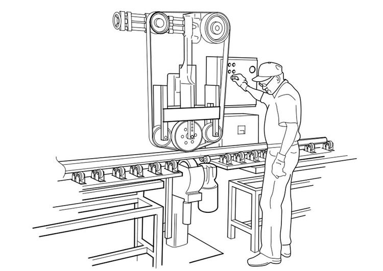 Dibujo Para Colorear Manejar Máquina Img 19115