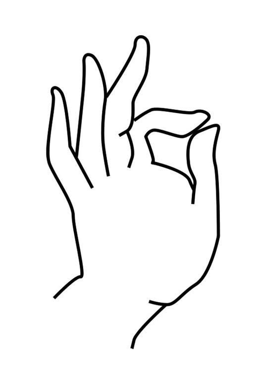 Dibujo para colorear mano de Buda - Img 25622