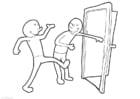 Dibujo para colorear Mantener la puerta abierta
