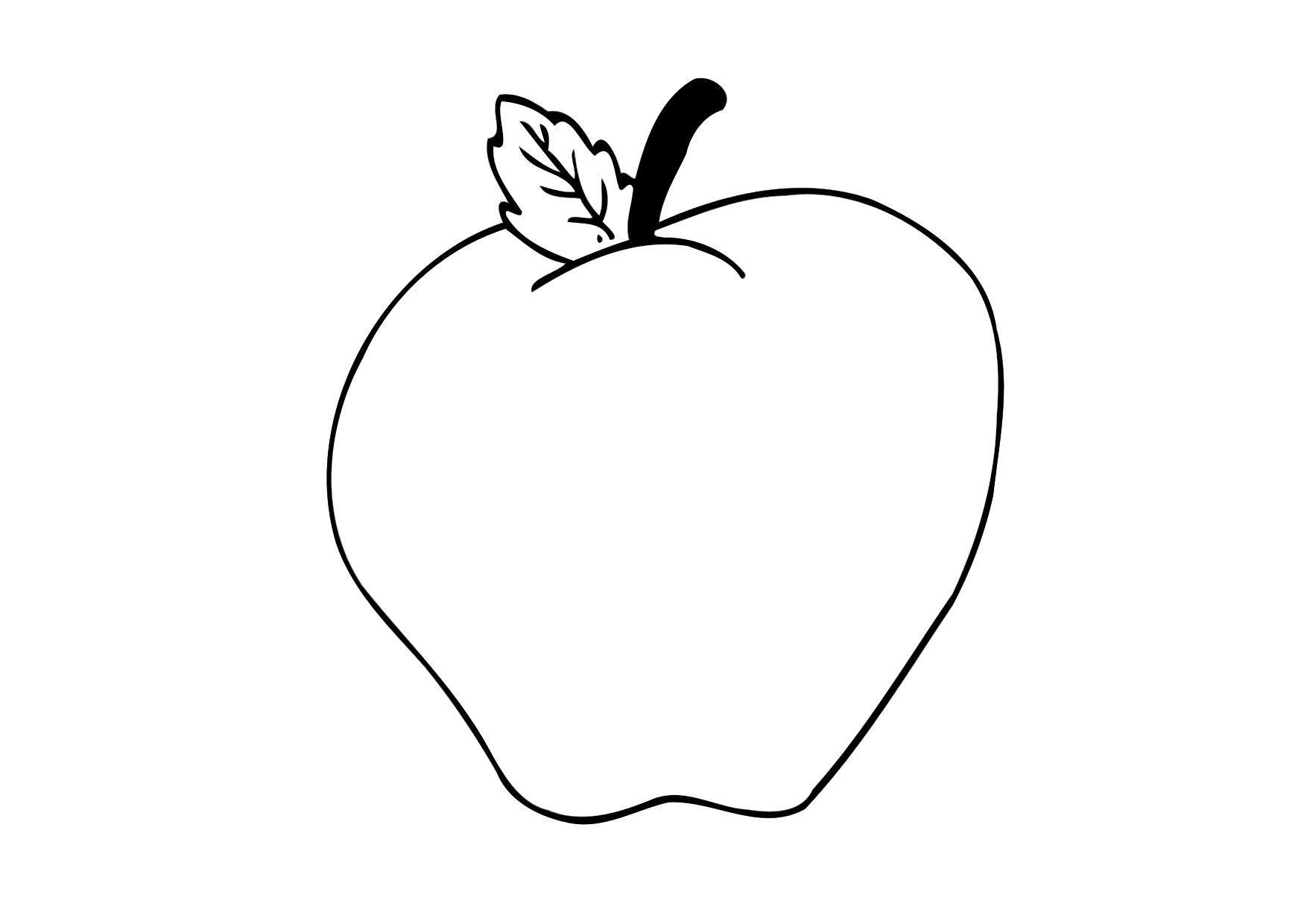 Dibujo para colorear Manzana - Img 12305