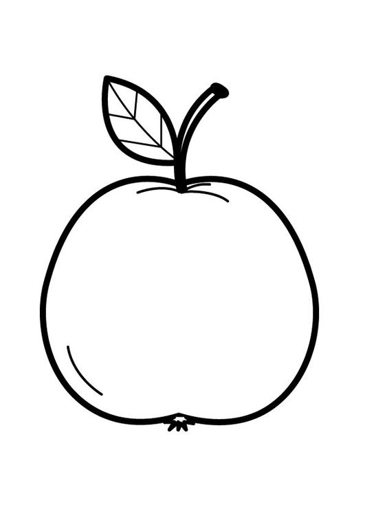 Dibujo para colorear manzana - Img 23173