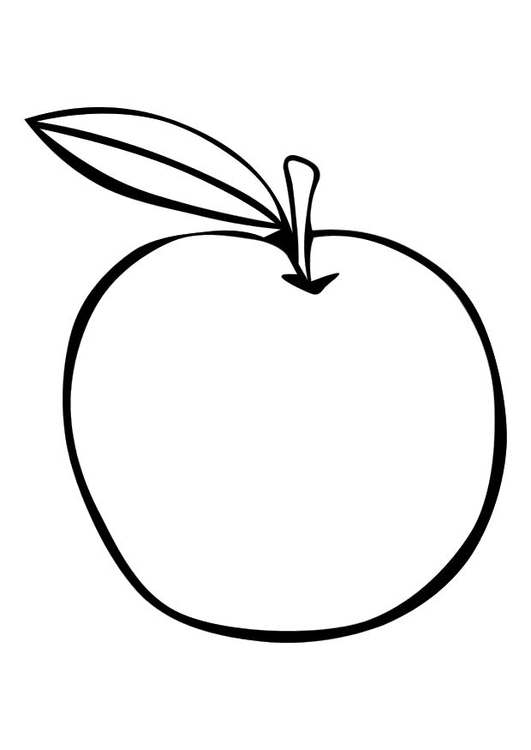 Dibujo para colorear Manzana - Img 26021